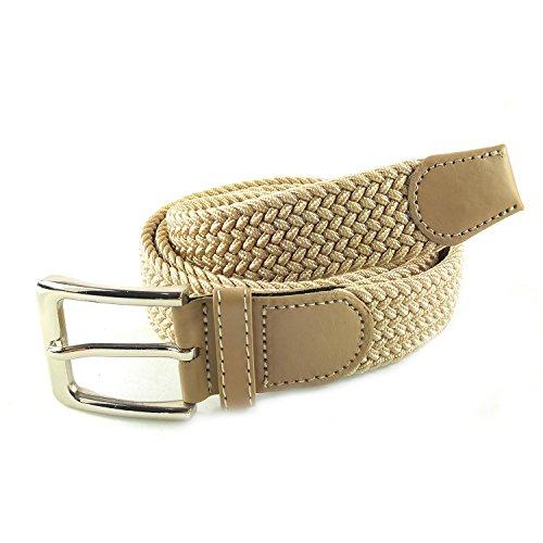 MYB Cintura elastica intrecciata per Uomo e Donna diversi colori e dimensioni