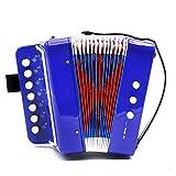 RENNICOCO Knopfakkordeon 10 Tasten Diatonisch für Solo und Ensemble Kinder und Anfängerfreundlich Kinderspielzeug Akkordeon Kindergeschenke