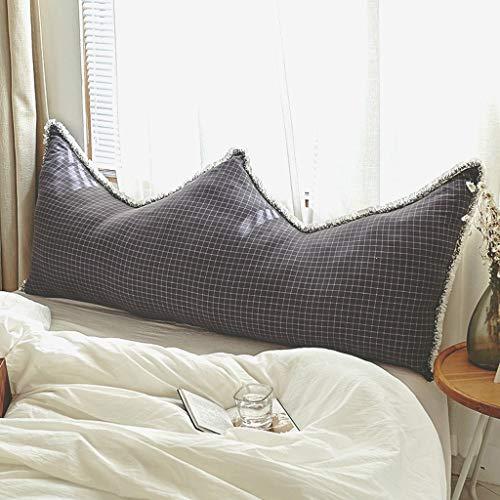 Gy cuscino del letto, testata morbida cuscini matrimoniali tessuto di cotone lavato multifunzione lettura del ministero degli interni riposo schienale della vita, 4 colori, 4 formati
