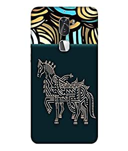 PrintVisa Designer Back Case Cover for Coolpad Cool 1 (Horse In Artistic Design)