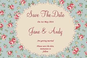 Lot de 10 cartes pour mariage Save The Date