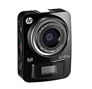 HP lc100w Full HD 1080p, 4k Time Lapse, Mini WiFi Water Resistant Camera /w Waterproof Case (Black)