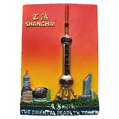 Die Oriental Pearl JINMAO Tower Shanghai China World Kunstharz 3D starker Kühlschrank Magnet Souvenir Tourist Geschenk Chinesische Home und Küche Dekoration Sticker rot -
