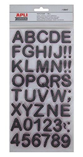 APLI ABC Stickers mousse 105 unités 25 à 30 mm