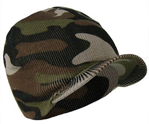 Da uomo o ragazzo, linea Beanie-Cappello mimetico Peaked Beanie Taglia unica