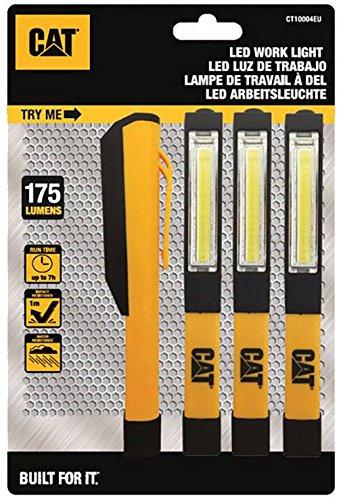 Caterpillar Cat LED Taschenlampe 4er Set CT1000 batteriebetrieben 68g Schwarz, Gelb
