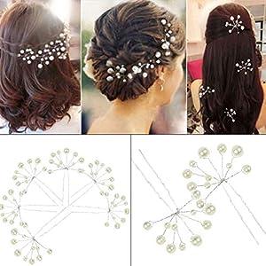 Bridal Hair Pins - 10Pcs Fashion Retro Elegant Ladies Pearl Rhinestone Hair Accessories for Wedding Bridal Jewelry Bridal Hair Accessories Headpiece Wedding Accessories