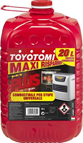 Toyotomi Plus 20 Litri,  Combustibile Universale di alta qualità categoria, 'Puro', adatto a tutte le stufe portatili a stoppino ed elettronich