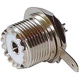 AERZETIX: Adaptateur prise fiche UHF SO-239 femelle pour chassis panneau