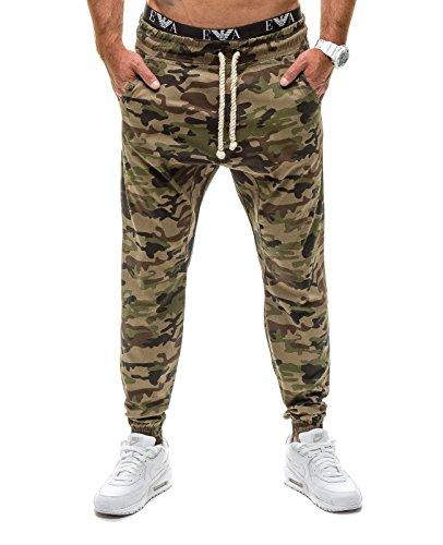 BOLF �?Pantaloni sportivi �?Jogging �?Military �?Training �?Sport �?Motivo �?Uomo [6F6] Cachi