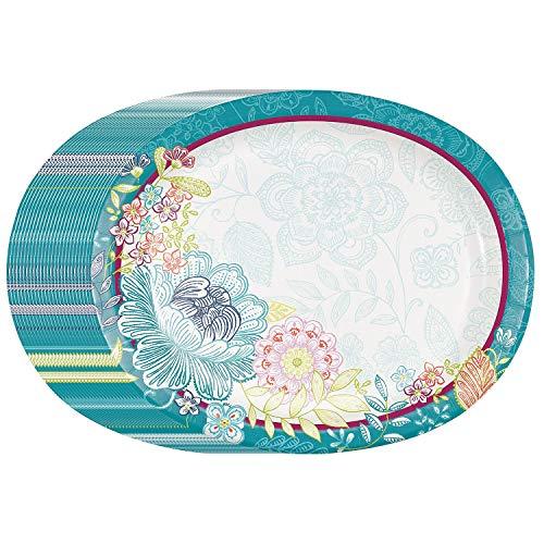 nch Party Pack, Einweg Performa Papier Teller und stabile Premium 3-lagig Serviette Set. Elegantes Geschirr Die Versorgung für Picknicks, zu Hochzeit und Geburtstag Partys. ()
