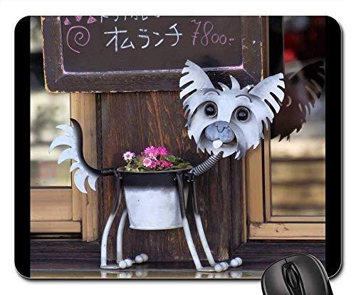 Gaming-Mauspads, Mauspad, Hund Topfpflanze Blume Metall Pflanzen kann Spaß
