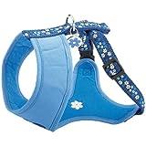 Bobby HTFLOW1_BLEU_L Geschirr breit Flower, L, blau