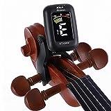 Sintonizzatore per violino, mini display elettronico per violino, viola, violoncello, accordatore a clip portatile digitale