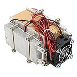 KUNSE 12V 60W Termoeléctrica Peltier Refrigeración Refrigeración Refrigerador Sistema De Ventilador Disipador De Calor Kit