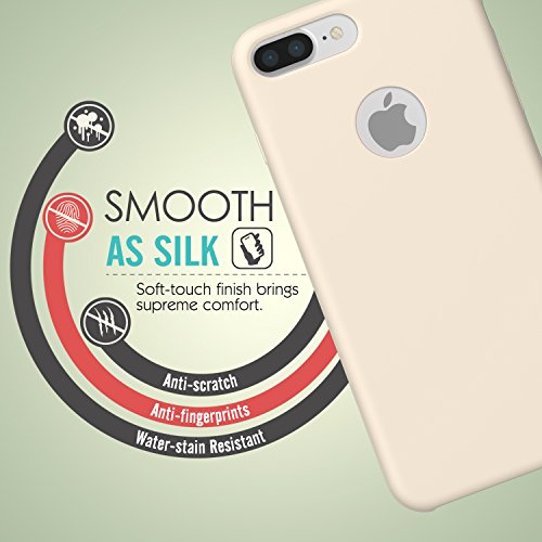 MoKo Hülle für iPhone 7 Plus - Premium Ultra Slim Flexible Silikon Handy Schutzhülle Schale Stoßfest Phone Case Cover Bumper für Apple iPhone 7 Plus 5.5 Zoll Smartphone, Rosa sand Rosa sand