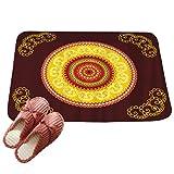 LvRaoo Fußabtreter Mandala Blumendruck Rutschfest Sauberlaufmatte Fußabstreifer Teppiche Läufer für Außen und Innen (# 24, 60*40cm)