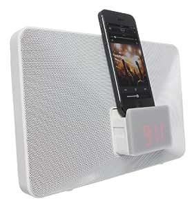 KitSound Fresh Radio Réveil Station d'Accueil avec Connecteur Lightning pour iPhone 5/iPhone SE/5S/5C/6/6 Plus- iPod Nano 7 et iPod Touch 5 - Livré avec Prise UK - Blanc