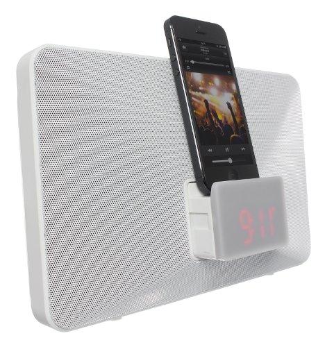 6 Plus Dock Alarm Iphone (KitSound Fresh Radio Uhr Dockingstation Ladegerät mit Lightning Anschluss für iPhone 5/5S/5C/SE/6/6 Plus/6S/6S Plus, iPod Nano 7. Generation und iPod Touch 5. Generation, mit UK-Netzstecker - Weiß)
