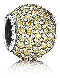 Pandora Damen-Bead-Zwischenelement 925 Silber Zirkonia gelb - 791051FCZ