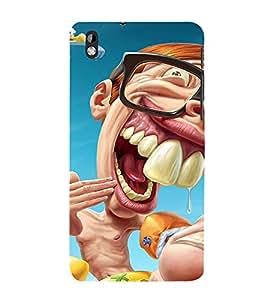 Laughing Cartoon 3D Hard Polycarbonate Designer Back Case Cover for HTC Desire 816::HTC Desire 816 G::HTC Desire 816D::HTC Desire 816G (Octa Core)