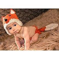 Bei wang neonati fotografia Props Fox-Costume da ragazza e ragazzo,