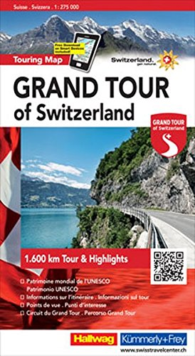 Switzerland the Grand Tour - Touring Map L2019: HKF.120