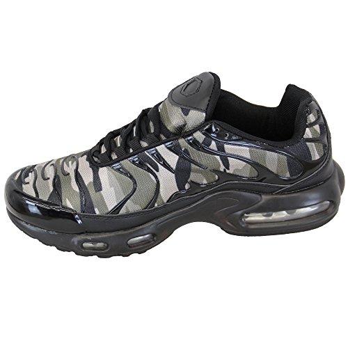 uomo BOLLE Scarpe sportive da corsa con Lacci Scarpe Sportive Jogging Sport Palestra Fitness Verde/Nero - 901