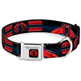 Buckle Down dc-wgij004-ws 33–45,7 cm gija-gi Joe Cobra Logo Full Color Schwarz/Rot Halsband, breit klein