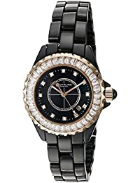 Stuhrling Original Women's Quartz Watch with Black Dial Analogue Display and Black Ceramic Strap 530S2.114OB1