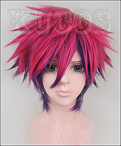 �nner Sora Anime Perücke Cosplay kurze glatte Wine Red Hair Zubehör (Halloween-sora Cosplay)