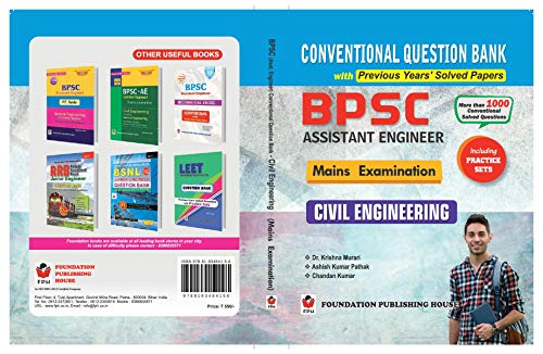 BPSC Assistant Engineer Civil Engineering Conventional Question Bank with Previous Years' Solved Papers