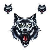 Wolf Kopf Abziehbild Vinyl lustiger Aufkleber passen