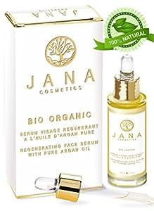 Arganöl Gesicht Serum. Feuchtigkeitscreme mit 100% Bio Arganöl. Anti Aging Gesichtsöl. Serum für Augen, Gesicht, Wimpern & augenbrauen Naturkosmetik Wimpernserum
