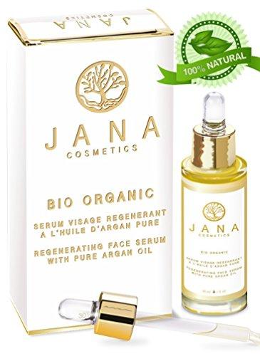 JANA COSMETICS- 100% Bio und Reines Arganöl Serum für Gesicht öl: Gesichtsöl, Anti-Aging - Anti-Falten Serum, Augen Serum Gegen Augenringe / Wimpernserum. Naturkosmetik