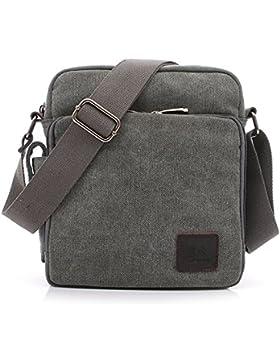 MeCool Schultertasche Canvas Umhängetasche Designer Marken Reisetasche Taschen für Männer Schule Retro Weekender...
