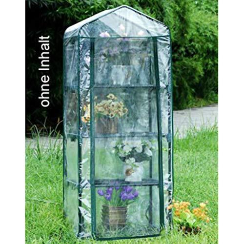 TronicXL Mini Gewächshaus Grow Box Foliengewächshaus Anzucht Gartenhaus Treibhaus für Balkon Garten Turm mit 4 Etagen | Garten > Gewächshäuser | TronicXL