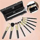 Brochas de Maquillaje Profesional, Leeron Set de 9 Pinceles de...