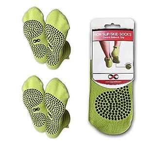 YogaAddict rutschfeste Socken mit Noppen, für Krankenhaus, Reha, Reisen, Yoga, Pilates, Barren, Zuhause, 1& 2Paar-Set.