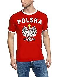 WM 2018 POLSKA Adler T-SHIRT mit Deinem NAMEN + NUMMER ! POLEN Fußball Trikot Ringer weiß S M L XL XXL
