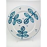 Piatto in ceramica dipinto a man