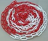 PCH-6x25.0 Catena di plastica rossa e bianca 6 mm, lunghezza 25 metri