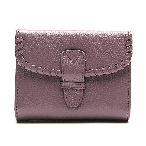 Borsa delle donne, Piccola moneta Borsa di pelle Portafoglio per le donne, Porta carte di credito Cambia portafoglio del sacchetto (blu) blu