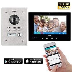 Neostar 2 Draht IP Video Türsprechanlage ✓ Smartphone App ✓ 7 Zoll Touchscreen Monitor ✓ Full HD Kamera ✓ 172° Weitwinkel-Kamera ✓ 2-Draht IP ✓ 1 Familienhaus ✓ Unterputz