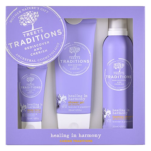 Treets Traditions Healing in Harmony Gift Set Large, 1er Pack (1 x 3.9 kg) - Lavender Body Care Lotion
