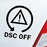 Auto Aufkleber in Deiner Wunschfarbe DSC Off Symbol Fun Drift Tuning Dub OEM JDM 11x9 cm Autoaufkleber Sticker