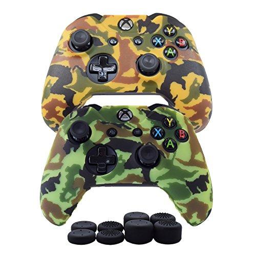 Hikfly Housse de protection en silicone pour manette Xbox One/Xbox One S/Xbox One X Xbox One Print Style Dessin blanc