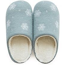 e57d8eb839032 YMFIE Casa de Invierno Zapatillas de algodón Confort térmico Interior  Calzados Zapatillas de Felpa