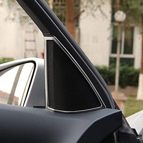 car-styling ABS Chrom Innen Zubehör inneren Tür Lautsprecher Dekoration Rahmen Cover Trim Aufkleber für C-Klasse W204C180C200C2602008–2014