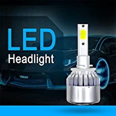 EDTara COB LED Headlight Replacement Bulb for RV SUV MPV Car 1Pair